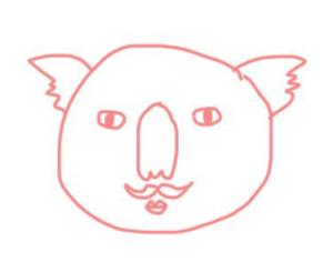 ひげさんが描いたコアラ